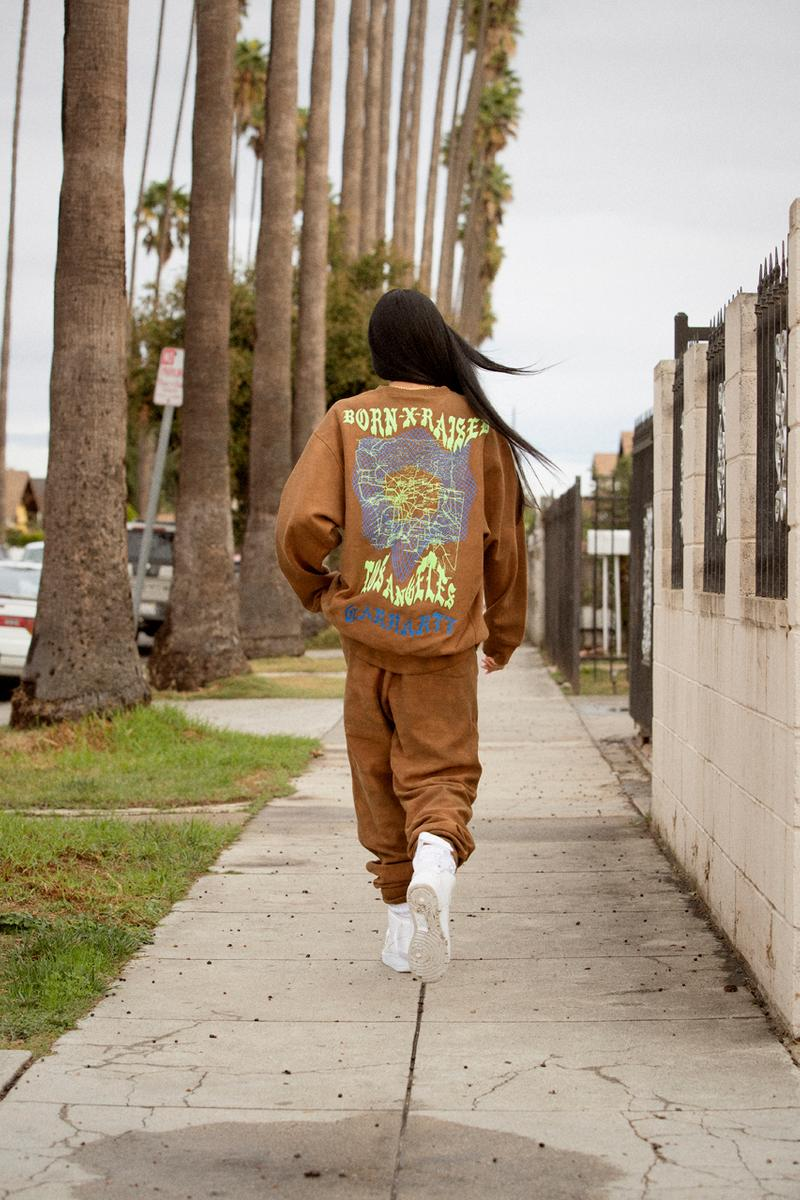 BornxRaised x Carhartt WIP Capsule Collection Sweatpants Sweatshirts Aleali May winter 2019 december los angeles store opening south central