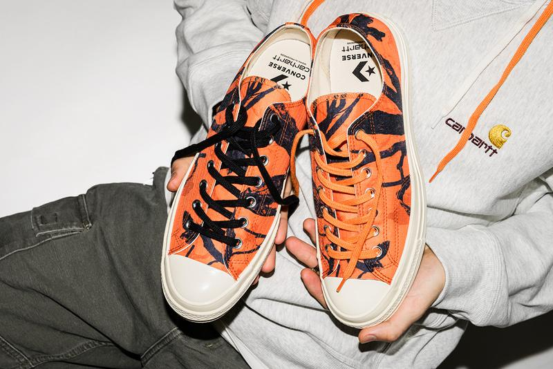 carhartt wip converse chuck taylor 70 low fall winter 2019 fw19 release information hunting wooden camouflage orange black ripstop nylon cotton twill corduroy buy cop purchase workwear