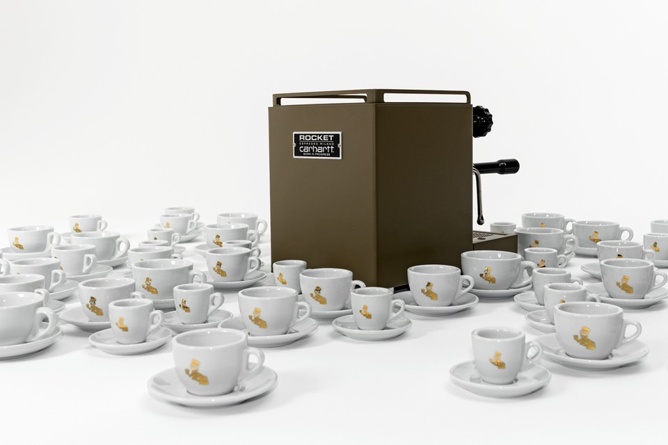 Carhartt WIP Joins Rocket Espresso Milano for Military-Inspired Espresso Machine