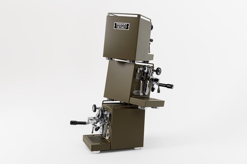 Carhartt WIP x Rocket Espresso Milano Espresso Machine Olive Green Stainless Steel