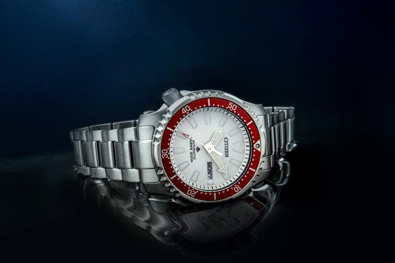 Citizen Asia Limited NY0097-87A Watch Release 30th Anniversary Promaster Series White Dial Red Bezel