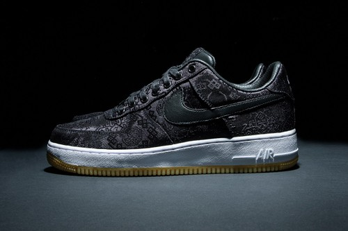 """Images of a CLOT x Nike Air Force 1 """"Rose Gold Silk"""" Surface"""