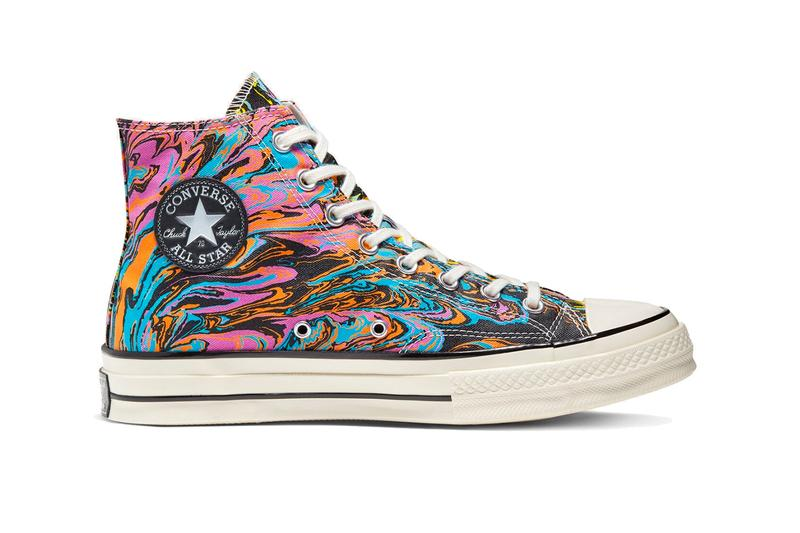 Converse Chuck taylor all star 70 Hi top Egret Multi black footwear shoes sneakers runners trainers lifestyle retro psychedelic memory foam fall winter 2019 collection 167373c