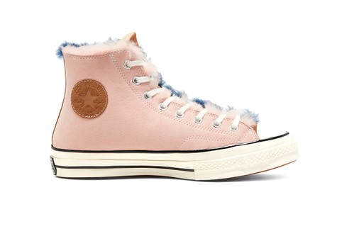 Cozy up in Converse's Shearling-Lined Suede Color-Split Chuck 70 Hi