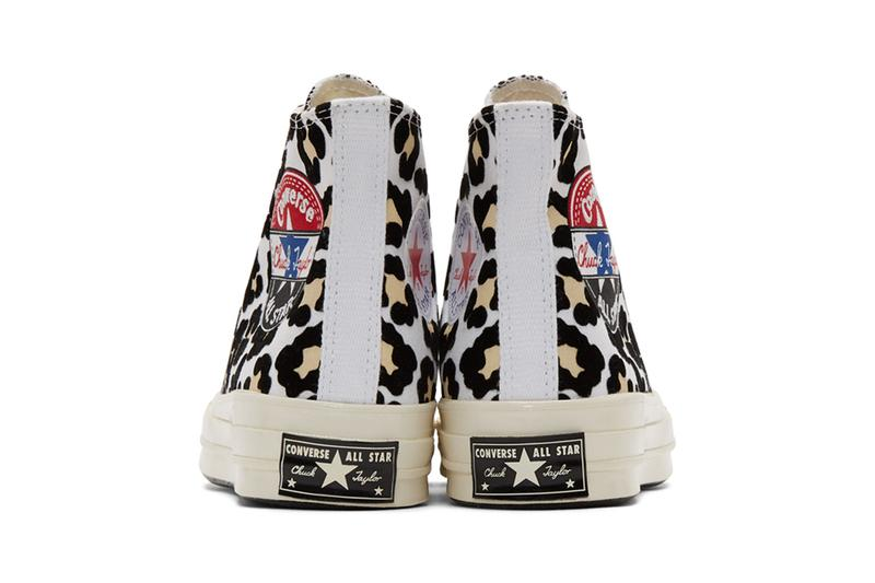 Converse Chuck 70 Hi Logo Play All Star taylor logo leopard sneakers shoes footwear kicks runners trainers basketball red white blue canvas Black Desert ore fall winter 2019 retro