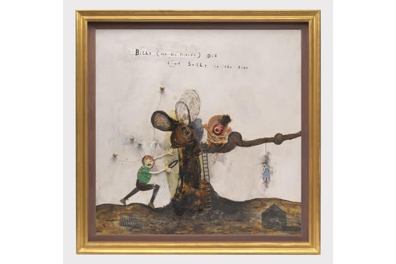 "David Lynch ""Squeaky Flies in the Mud"" Exhibition Sperone Westwater Multimedia Paintings Lamp Sculptures Furniture Watercolors"