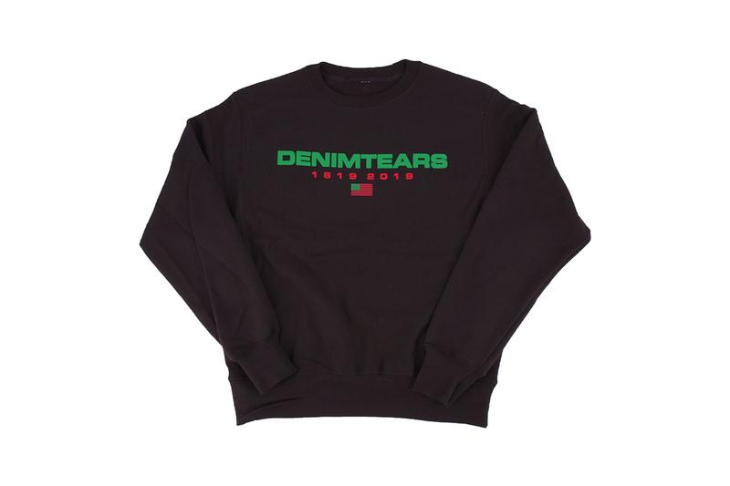 Denim Tears Drop Three Collection Release Information Tremaine Emory Enslavement Commentary Sweatshirts Sweatpants Hoodies Graphics Embroidery Floral Designs Trucker Hats T-Shirts