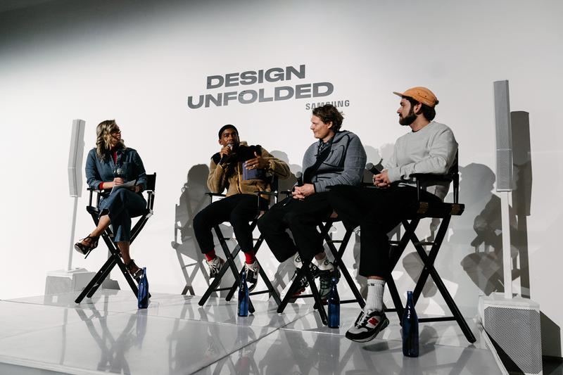 Design Unfolded Powered by Samsung Event Recap borre byborre m-xr elliot round jason bolden samsung galaxy fold event panel discussion installation technology fashion