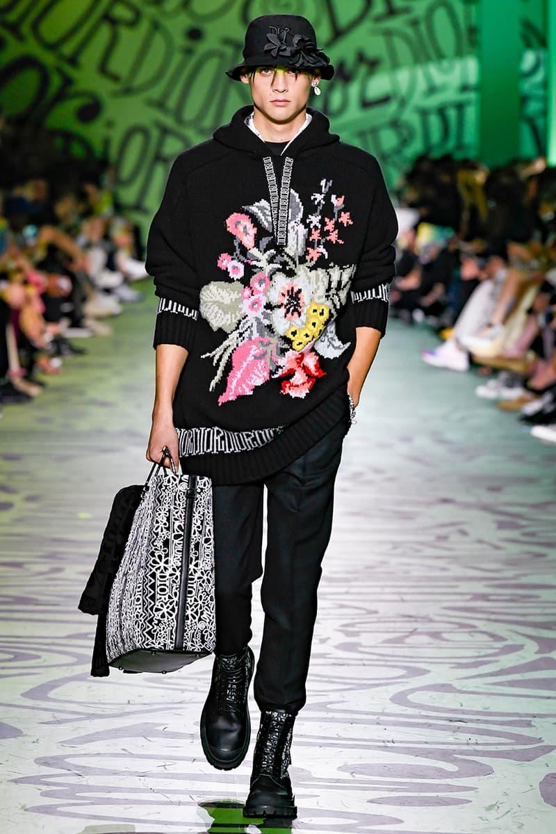 Dior Fall/Winter 2020 Miami Runway Show Closer Look Looks Kim Jones Shawn Stussy Air Jordan 1 High OG Menswear Tailoring Luxury Fashion Metal Saddle Bag Yoon Ahn pre collection