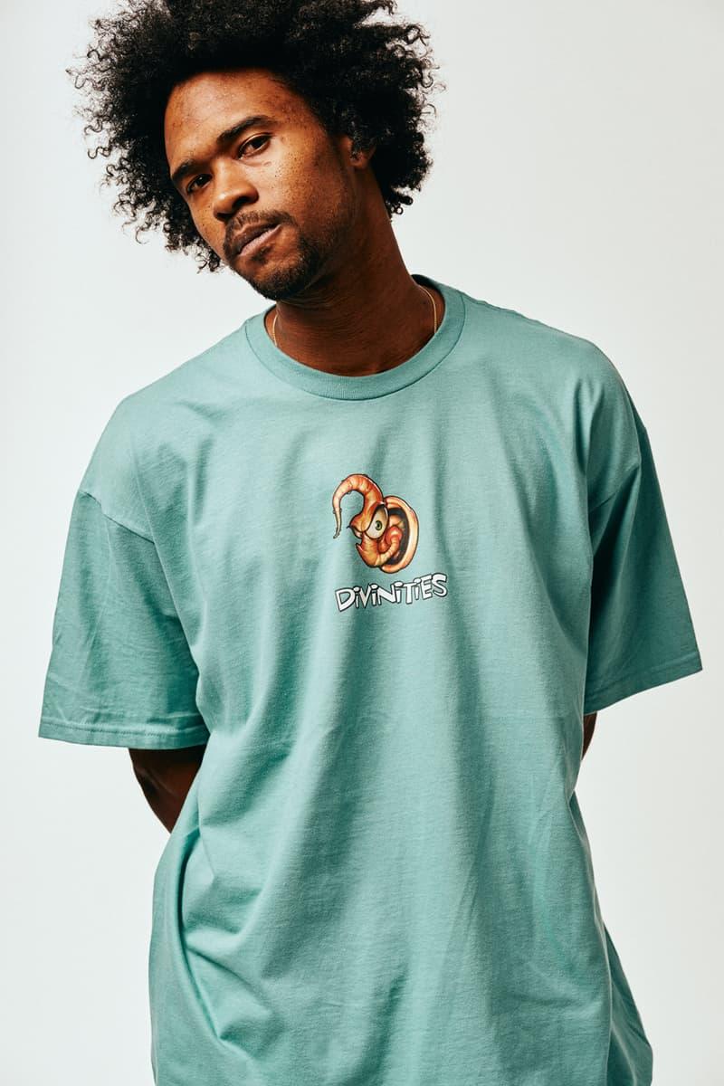 DIVINITIES Winter 2019 Lookbook Collection Info T-shirts Hoodies Long Sleeves Rings Pullovers Sterling Silver Rings Ocean's Thirteen Darkwing Duck Deltron 3030 Bill Evan 'Waltz for Debby'