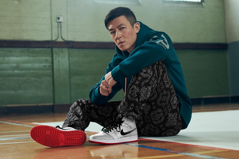"Edison Chen x Air Jordan 1 Mid ""Fearless"" Closer Look | HYPEBEAST"