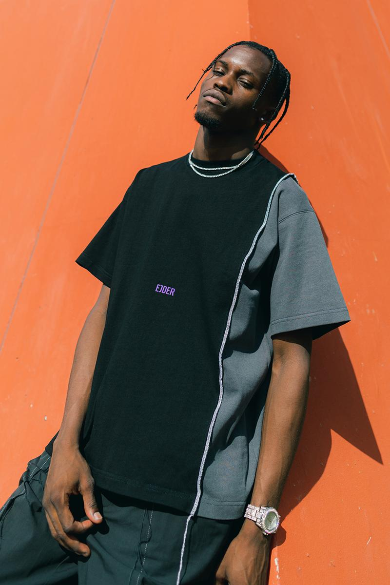 """EJDER """"A NAIL THAT STICKS OUT GETS HAMMERED"""" Collection Lookbook First Ever Release Cut-and-Sew Imagery Kojey Radical Video London Based Streetwear Imprint Retailer"""