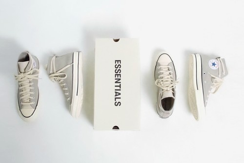 The Fear of God ESSENTIALS x Converse Chuck 70 Arrives in Cool Grey