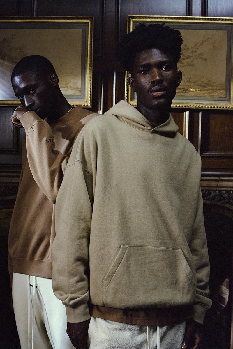 Fear of God ESSENTIALS Holiday 2019 Collection Jerry Lorenzo Basics Line SSENSE Stockist Where to Cop Buy Winter Clothing Sneakers House Shoes Outerwear Loungewear Cozy Season