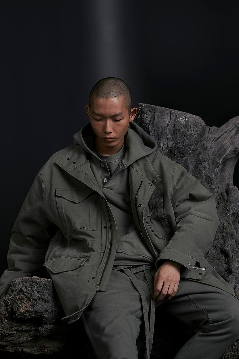 Fear of God Holiday 2019 Collection Lookbook Jerry Lorenzo Utilitarian Military Influences Winter Garments Coats Jackets Outerwear Oversized Tote Bag Accessories FOG