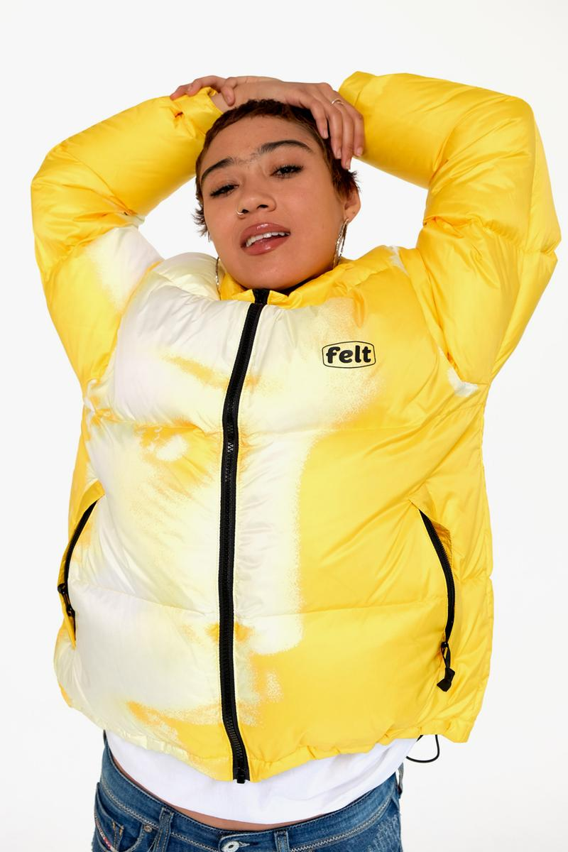 """FELT Fall/Winter 2019 Lookbook Collection Info Hoodies Down Puffer Jackets Long sleeves T-shirts New Era 59FIFTY Butterfly Embroidery Sphinx """"M.E.G"""""""