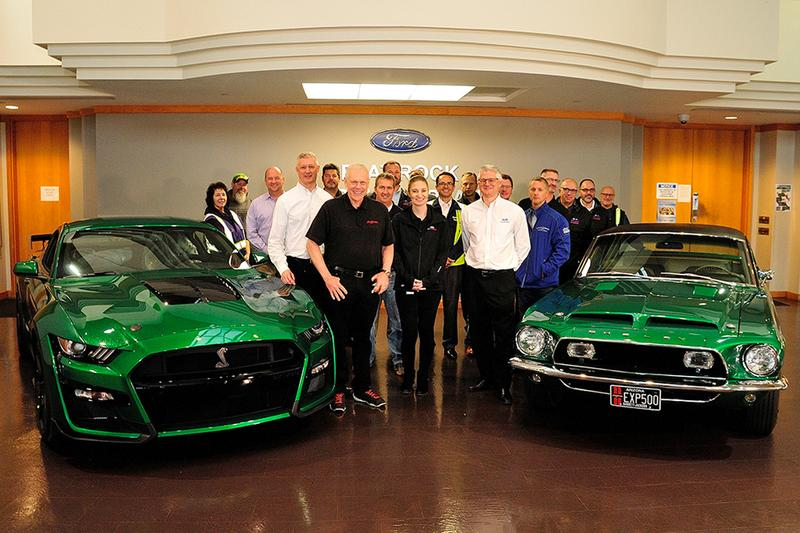 2020 ford mustang shelby gt500 1968 green hornet auction barrett jackson 1 million usd charity