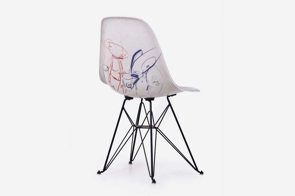 Modernica Releases Limited Futura Laboratories x Alchemist Art Café Side Shell Chairs