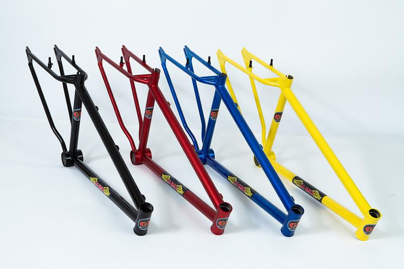 """Gary Turner x GT Bicycles 1979 26"""" BMX Cruiser Frames Release Information Collaboration Limited Edition Hand Made United States of America USA yellow black candy blue candy red rider bikes skills sports racing"""