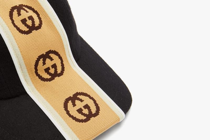 "Gucci Intarsia ""GG"" Stripe Houndstooth Bucket Hat MATCHESFASHION GG Felt Wool Alessandro Michele"