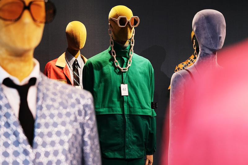 Gucci Spring/Summer 2020 Collection Preview ss20 first look sneaker clothing menswear accessories chain link necklace glasses hat jacket alessandro michele