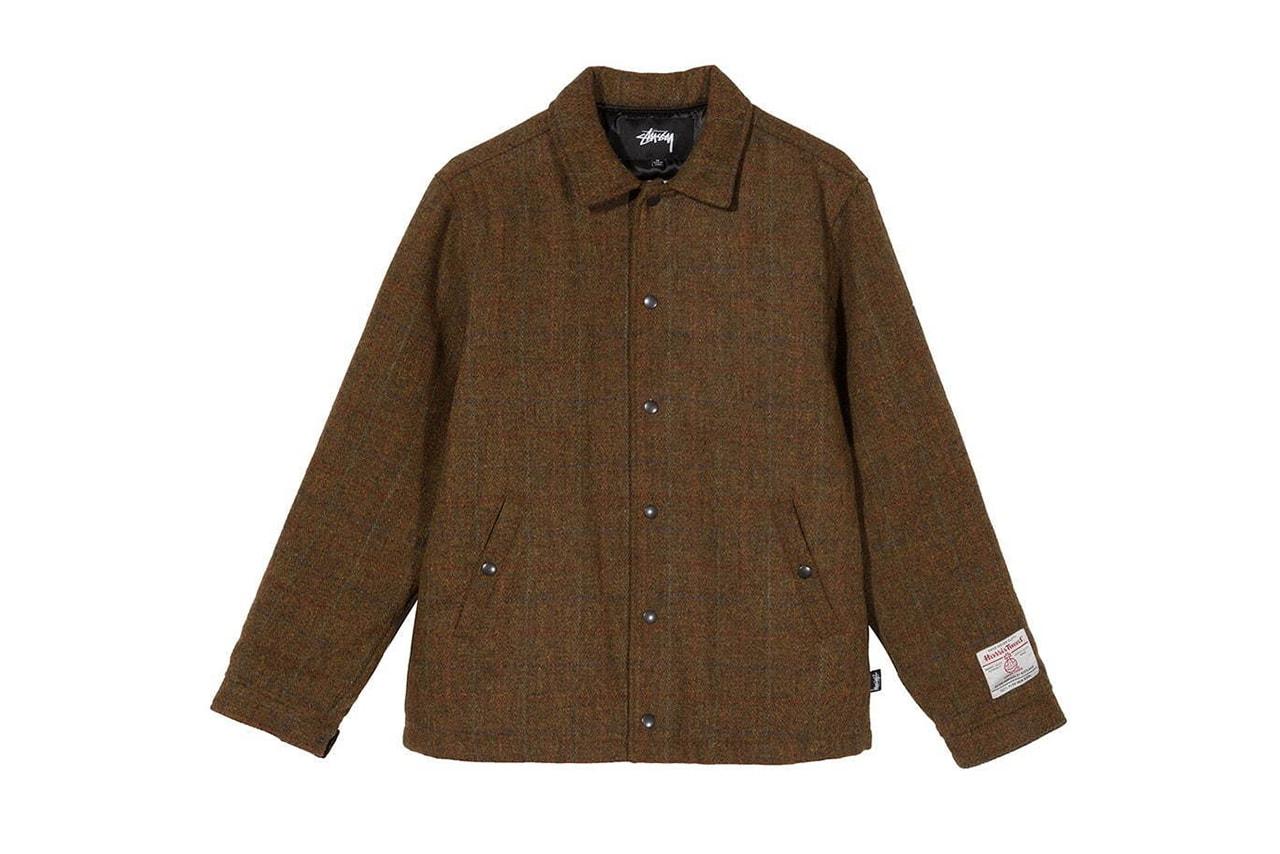 Harris Tweed for Stüssy Winter 2019 Collaboration Capsule clothing bucket hat jacket tote bag pants beach wool weave exclusive december 20 2019