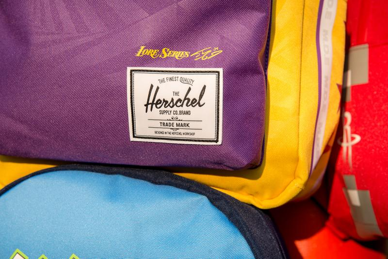 Herschel Supply x NBA City Edition Holiday 2019 vibrant colorways screen-printed team logo backpacks hip-packs 30 NBA teams