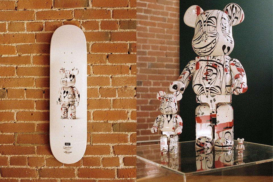 HUF Teams With Artist Phil Frost and BE@RBRICK for Latest FW19 Collaboration