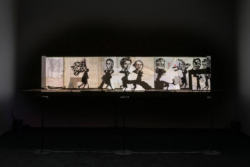 ICA Boston Major Work Acquisition Njideka Akunyili Crosby William Kentridge Toyin Ojih Odutola Tschabalala Self Paintings Film Installation