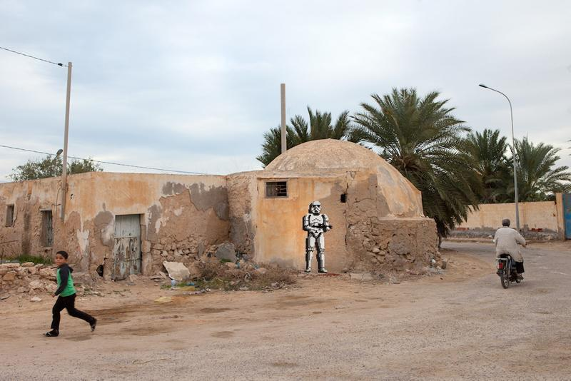 invader djerba street art project star wars mosaic tile graffiti installations
