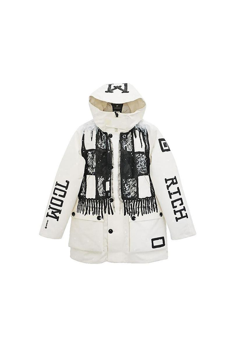 Joshua Vides x Woolrich 'Snow Room' Collaboration GORE-TEX Storm Parka The Bowery Mission Charity Donations Artist Black White Installation Clothing Winter 2019 Coats Jackets New York City Flagship Store Release Information