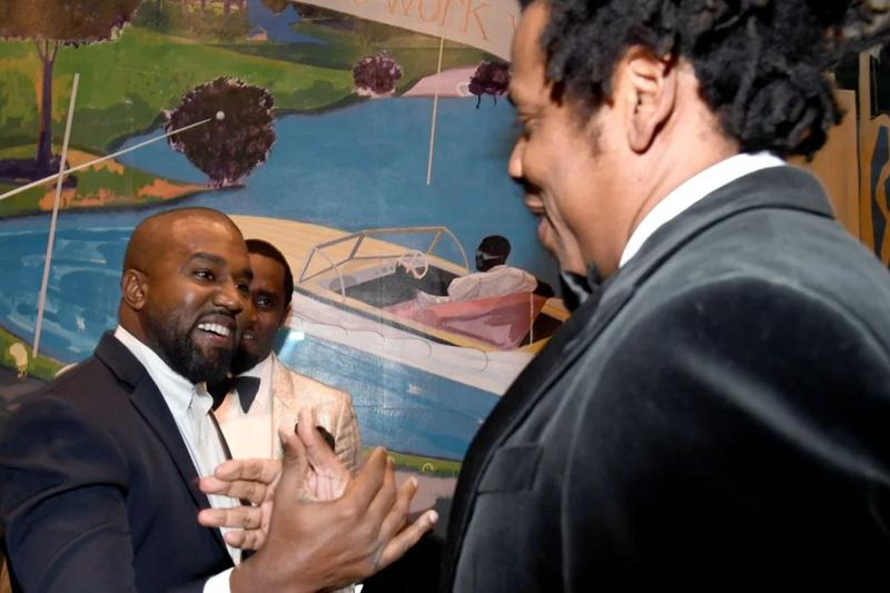 Kanye West & JAY-Z in Good Spirits at Diddy's 50th Birthday