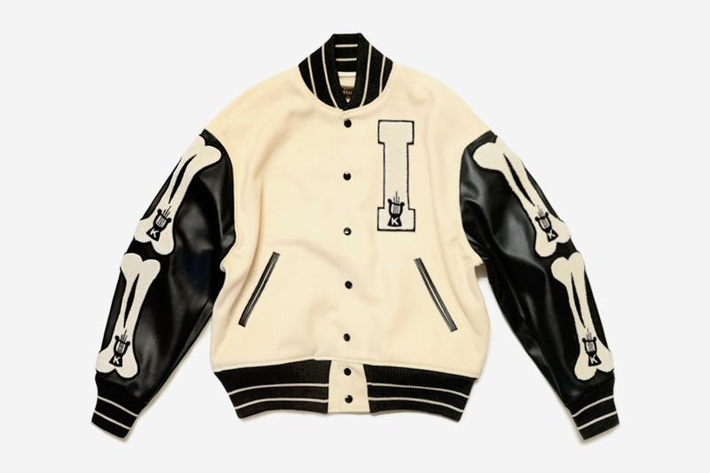 KAPITAL 40s Wool I FIVE Varsity Jacket outerwear kiro hirata collegiate vintage retro patch K harp embroidery patch wool leather boxy cupra nylon university college bones school team