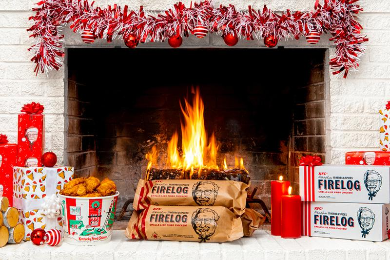 KFC 11 Herbs & Spices Firelogs Re-Release Enviro-Log Walmart Info Date Buy Holiday Christmas Fried Chicken Yulelog
