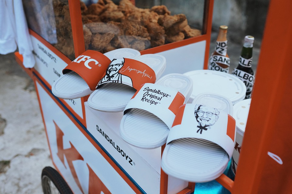 KFC & SANDALBOYZ Honor Indonesia, Fried Chicken & Colonel Sanders in Capsule Collection