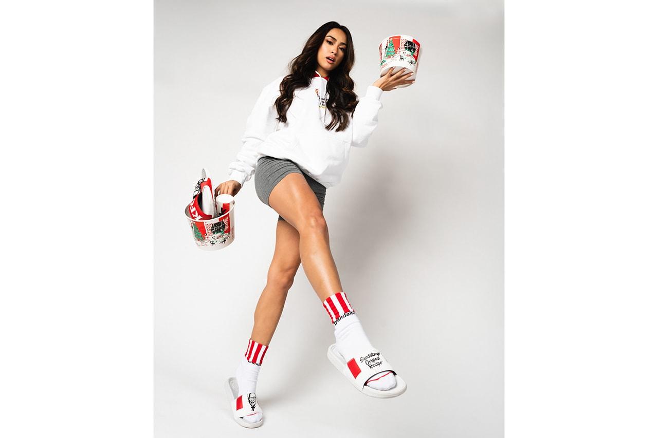 LAのサンダルブランド SANDALBOYZ が KFCを招聘したカプセルコレクションを発表 KFC x SANDALBOYZ Court Slides & Clothing Collection First Look Indonesia Capsule t-shirts hoodies shorts socks Lookbooks Colonel Sanders Fried Chicken Inspired Release information