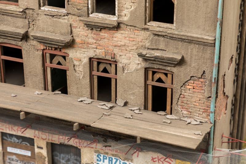 "KIRK Gallery ""Up the Wall"" Exhibition Joshua Smith Etam Cru Sainer Bezt Miniature Building Mural Lodz Poland"