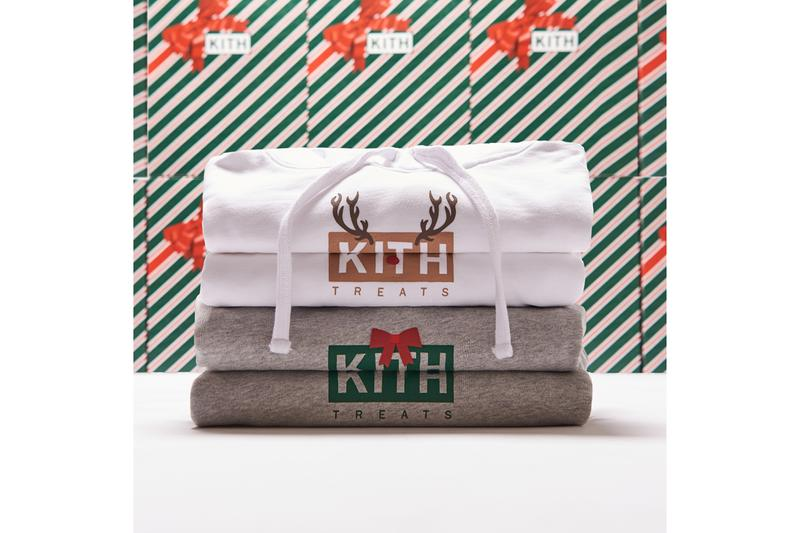 KITH Treats Holiday 2019 Collection Release Hoodies Santa Reindeer Present White Gray Black Gift Box Red Green Brown