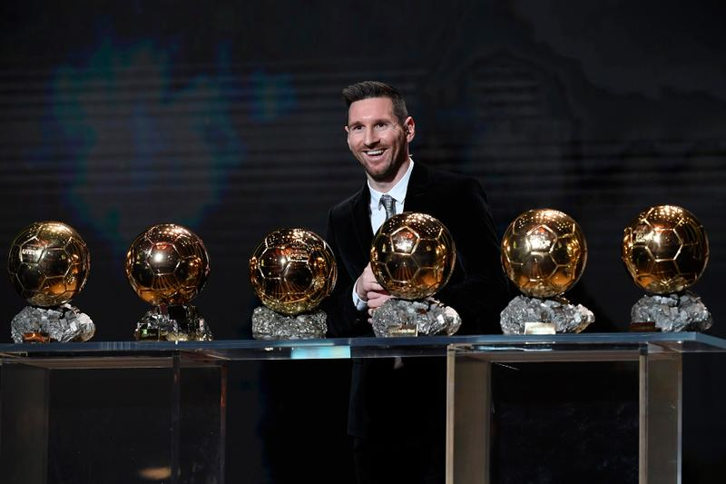 Lionel Messi Wins Record-Breaking Sixth Ballon d'Or Megan Rapinoe football soccer fifa world cup paris france ronaldo