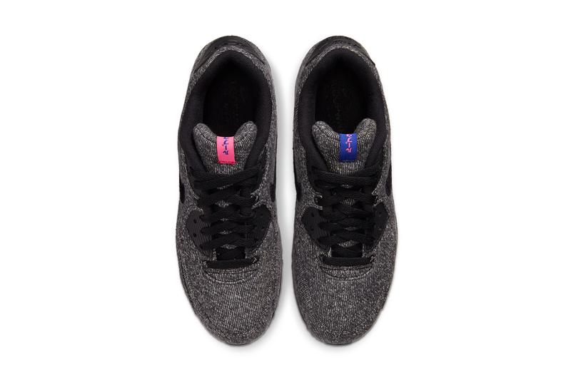 loopwheeler nike sportswear air max 90 black grey purple pink sweatshirt CQ7854 001 release date info photos price japan december 14 2019 collaboration