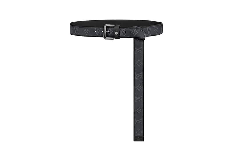 Louis Vuitton Virgil Abloh Designed Belt Collection Release Monogram Eclipse canvas buckle Pouch info Buy