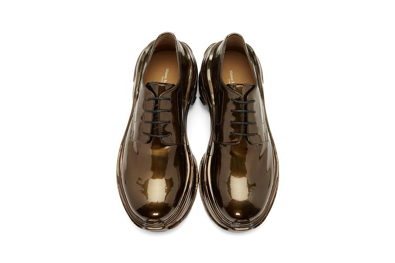 maison margiela cross ridge sole loafer derby buy cop purchase bronze riace dull grey release information ssense chunky formal sneaker