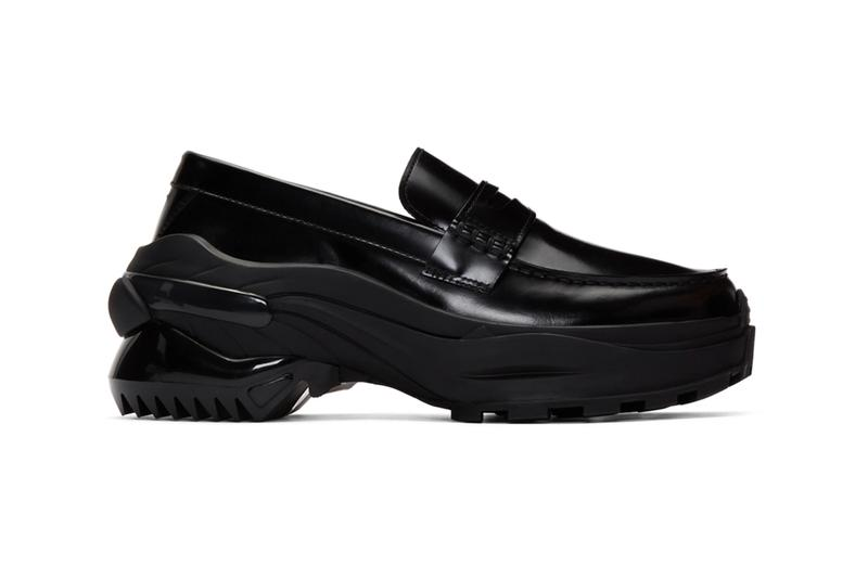 Maison Margiela Black Cross Loafers derby dress shoes footwear sneakers trainers runners leather penny atelier made in italy kicks sartorial bespoke polished reconstruction reworked