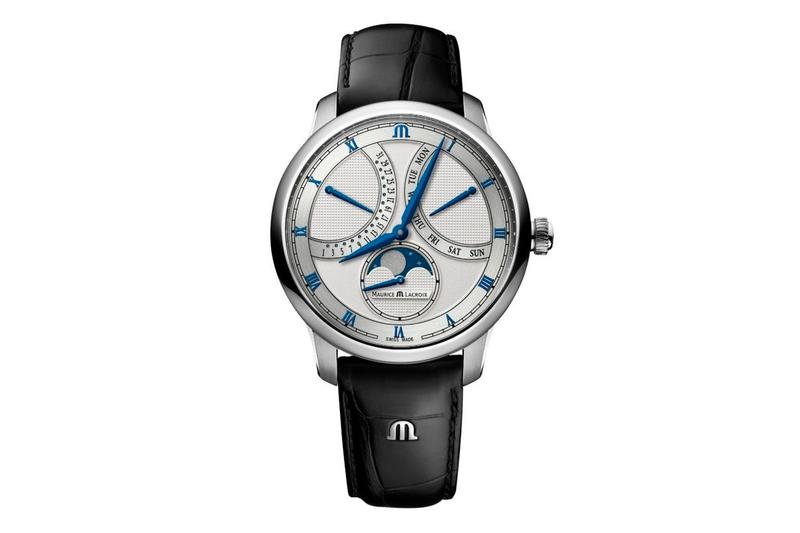 Maurice Lacroix Moonphase Masterpiece Retrograde Watch 43mm swiss made dksh function mechanical watch