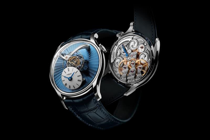 MB&F Legacy Machine Thunderdome Watch Info Tourbillon watchmaking wristwatches luxury escapement power reserve platinum