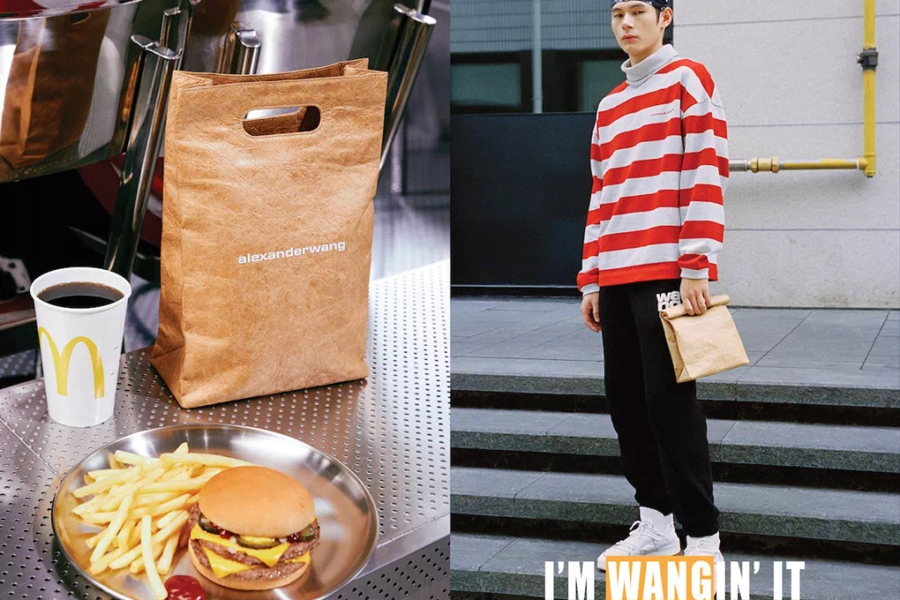 McDonald's Alexander Wang Fast Food-Inspired Accessories I'm wangin' it AW Golden Picnic Basket AW Golden Lunch Bag King's Black Gold Lemon Coconut Pie King's Black Gold McFlurry King's Black Gold Bubble Milk Tea