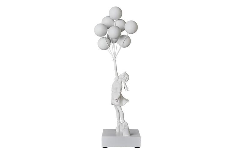 Medicom Toy Brandalism Banksy Inspired Figures monkey sign bomb hugger flying balloons girl monochromatic black white do nothing live longer controversial art design