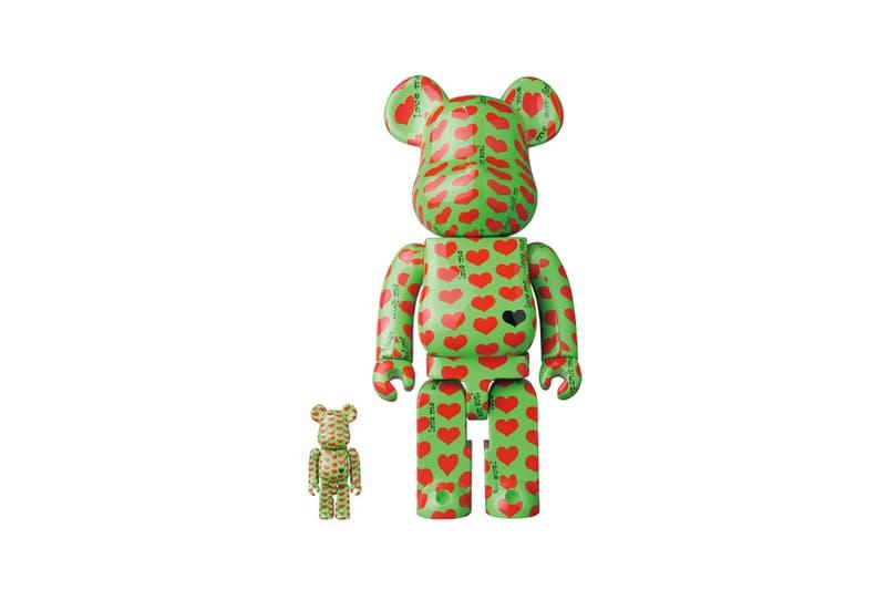 Medicom Toy BEARBRICK Green Heart 100  400 japanese toymaker toys accessories hide x japan guitar guitarist Hideto Matsumoto love me zilch rock 1998 Headwax Organization rock band