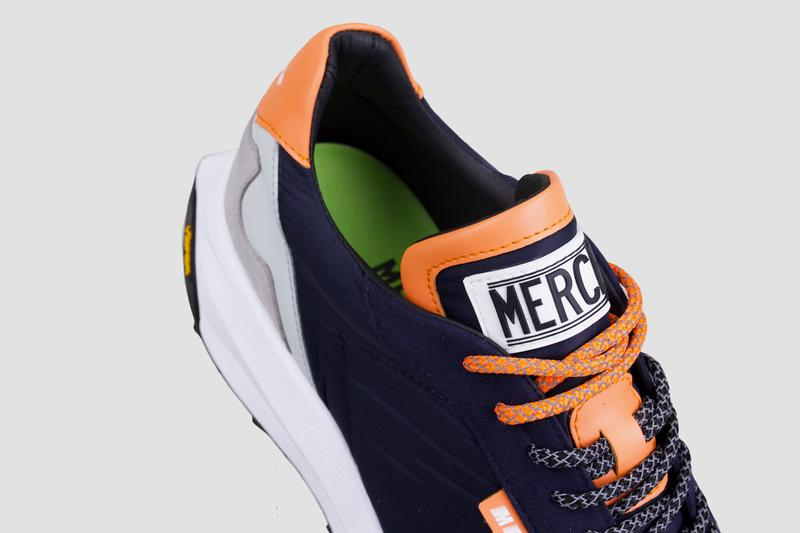 Mercer Amsterdam Vibram Racer OnSteam Vegan Leather Navy Blue Orange Gray Reflective