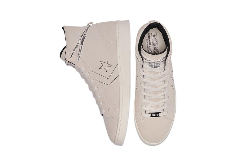 """Midnight Studios x Converse Pro Leather """"White/Egret/Black"""" Release Information Inside-Out Sneaker Sneakersnstuff Shane Gonzales Closer Look Reveal Collaboration Star"""